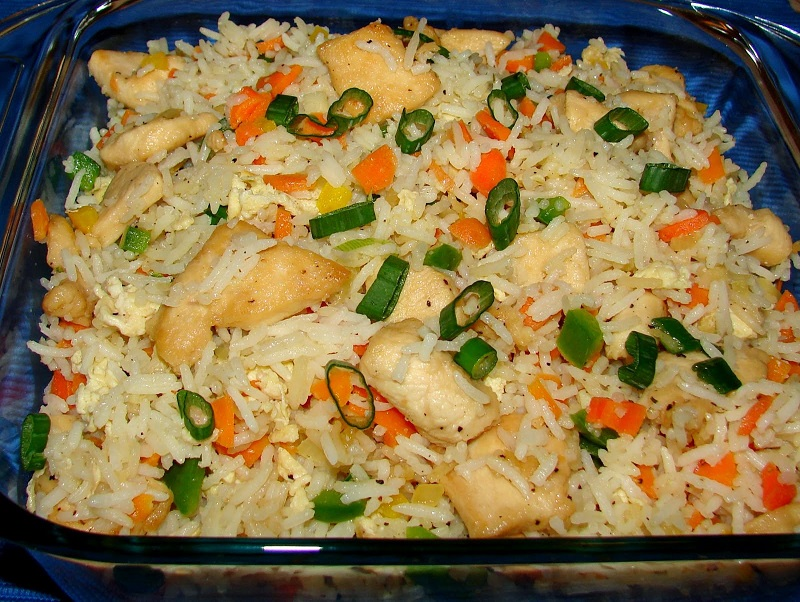 Chinese Egg/Vegetable/Chicken Fried Rice from Kory's Recipe